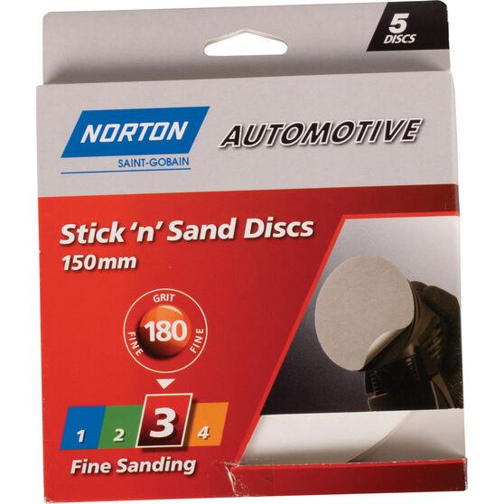 Norton Sticky Disc - 180 Grit, 5 Pack, , scanz_hi-res