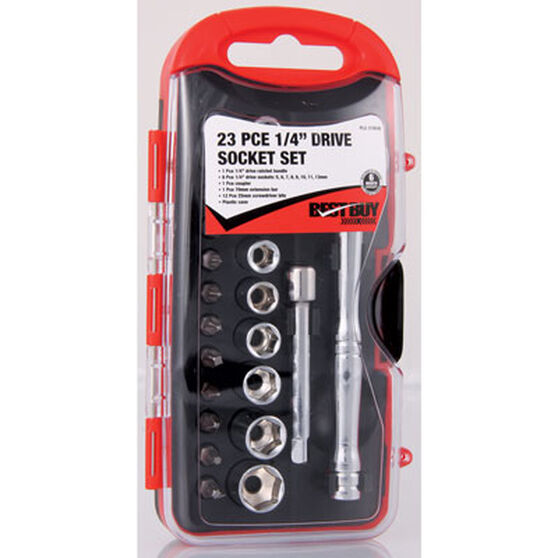 SCA Socket Set - 1 / 4 inch Drive, Metric, 23 Piece, , scanz_hi-res