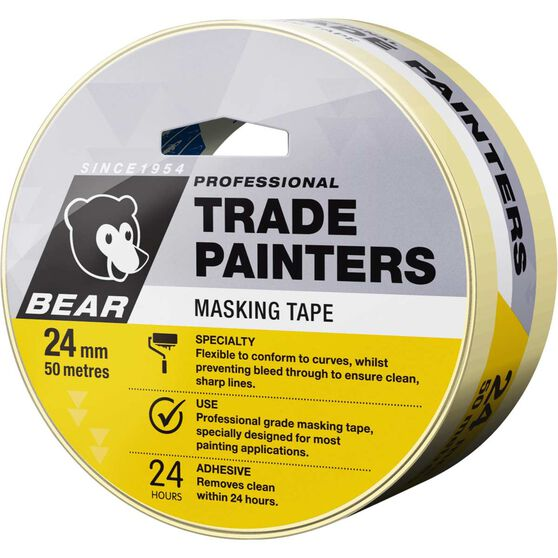 Norton Trade Painters Masking Tape - 24mm x 50m, , scanz_hi-res