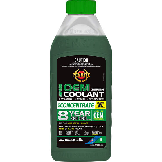 Penrite Green OEM Coolant Concentrate 1 Litre, , scanz_hi-res