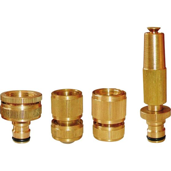 Brass Garden Hose Set - 4 Piece, , scanz_hi-res