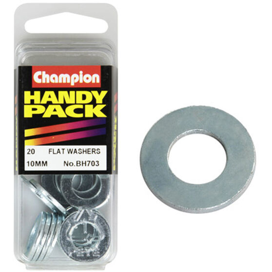 Champion Flat Steel Washer - 10mm, BH703, Handy Pack, , scanz_hi-res