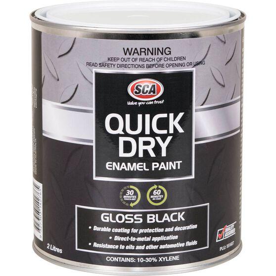 Quick Dry Enamel Black 2 Litre, , scanz_hi-res