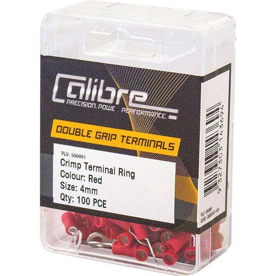 Crimp Terminal Ring Red 4mm 100Pk, , scanz_hi-res