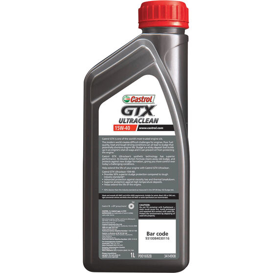 Castrol GTX ULTRACLEAN Engine Oil 15W-40 1 Litre, , scanz_hi-res
