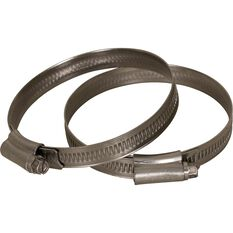 Stainless Steel Solid Band Hose Clamps - HC6080SS, 2 Piece, , scanz_hi-res