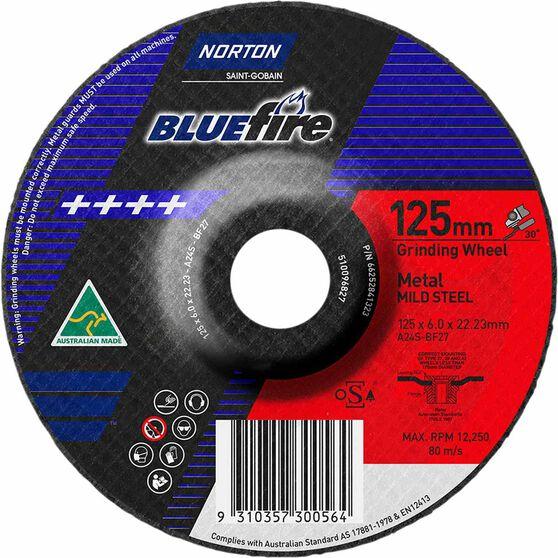 Norton Grinding Disc, Metal - 125mm  x  6.8mm  x  22mm, , scanz_hi-res