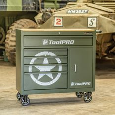 ToolPRO Army Star Tool Cabinet 5 Drawer 41 Inch, , scanz_hi-res