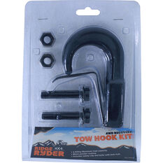 Ridge Ryder Tow Hook Kit Black 4500kg, , scanz_hi-res