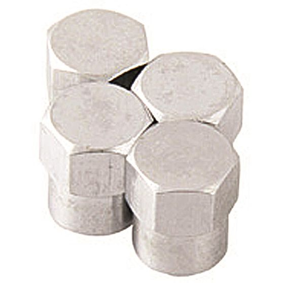 SCA Valve Caps - Chrome Hex, 4 Piece, , scanz_hi-res