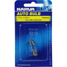 Narva Bulb - 12V, 10W, 10x31mm, , scanz_hi-res