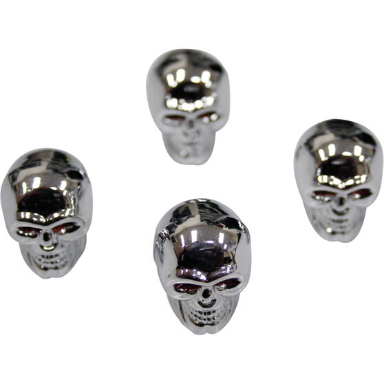 SCA Valve Cap Set - Silver Skull, , scanz_hi-res