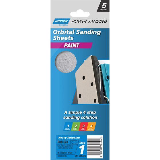 Norton 1 / 3 Sander Sheet - 80 Grit, , scanz_hi-res