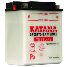 Katana Powersports Battery YB14L-A2, , scanz_hi-res