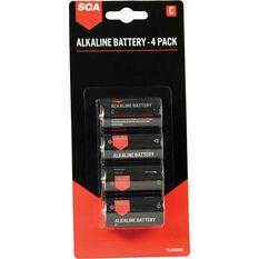 SCA Long Life Alkaline C Batteries - 4 Pack, , scanz_hi-res