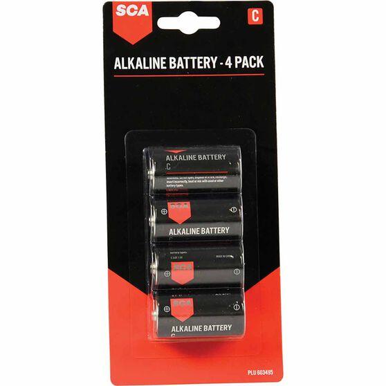 SCA Alkaline C Batteries 4 Pack, , scanz_hi-res