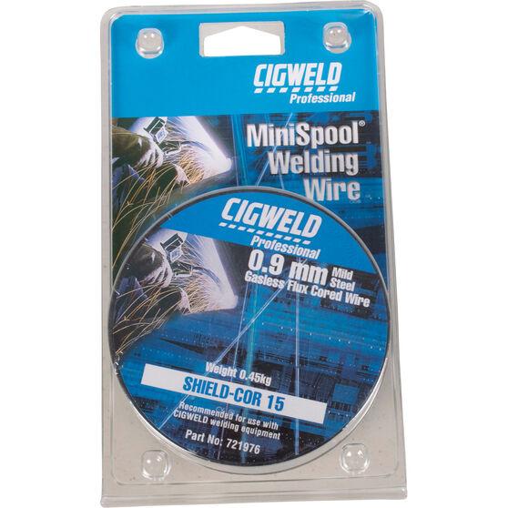 Cigweld Gasless Welding MiniSpool Mig Wire - 0.45kg, 0.9mm, , scanz_hi-res