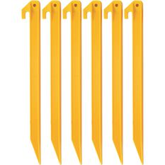 Campmaster Tent Peg - ABS Plastic, 300mm, 6 Pieces, , scanz_hi-res