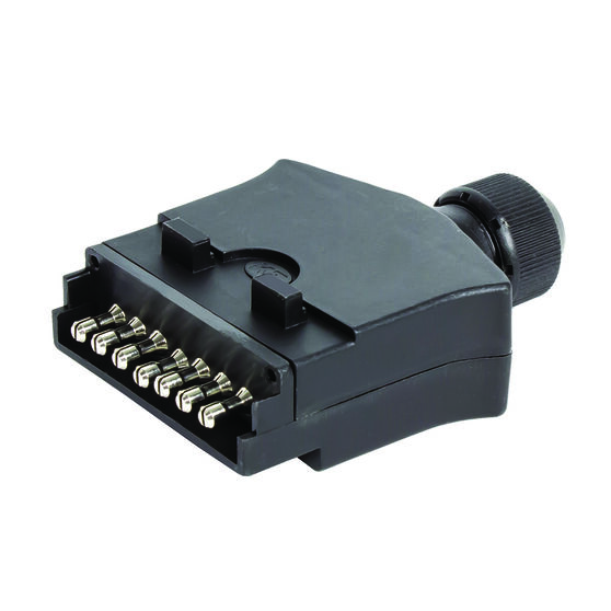 Trailer Plug - 7 Pin, Plastic, Flat, , scanz_hi-res