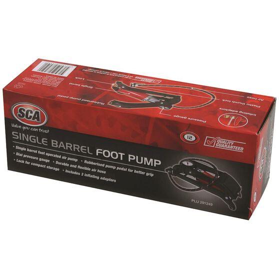 SCA Foot Pump, Single Barrel, With Gauge, , scanz_hi-res