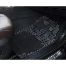 SCA Combo Car Floor Mats - Carpet / PVC, Black, Set of 4, , scanz_hi-res