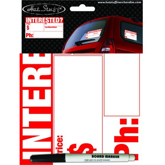 Hot Stuff Sticker - Interested?, Vinyl, , scanz_hi-res
