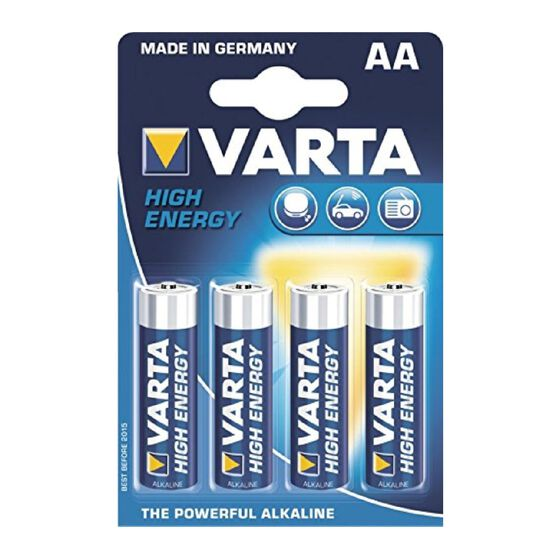 Varta High Energy Battery - AA, 4 Pack, , scanz_hi-res