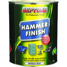 Septone Paint Hammer Finish - Metallic Blue, 1 Litre, , scanz_hi-res
