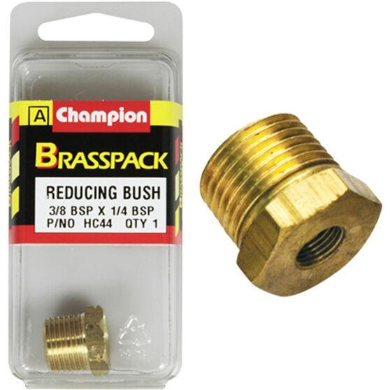 Champion Hex Reducing Bush - 3 / 8-1 / 4inch, Brass, , scanz_hi-res