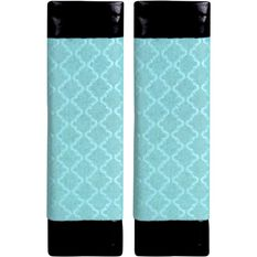 Metallic Print Seat Belt Buddies - Mint Green and Black, Pair, , scanz_hi-res