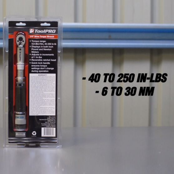 ToolPRO Torque Wrench - 1 / 4   inch Drive, , scanz_hi-res