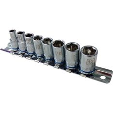 ToolPRO Socket Rail Set - 1 / 4 inch Drive, Metric, 8 Piece, , scanz_hi-res