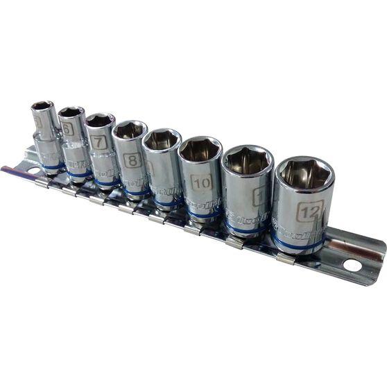 "ToolPRO Socket Rail Set 1/4"" Drive Metric 8 Piece, , scanz_hi-res"