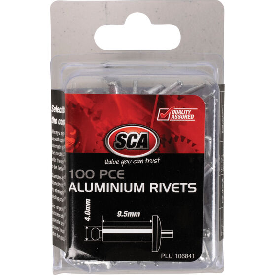 SCA Rivets - 4 x 9.5mm, 100 Piece, , scanz_hi-res
