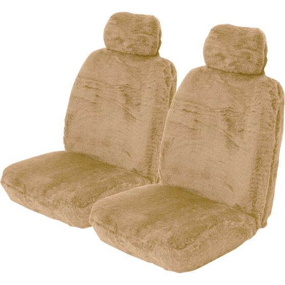 Comfort Fur Seat Covers - Bamboo, Adjustable Headrests, Size 30, Front Pair, Airbag Compatible, , scanz_hi-res