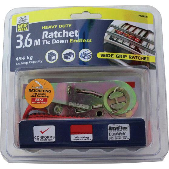 Gripwell Ratchet Tie Down - 3.6m, 454kg, , scanz_hi-res