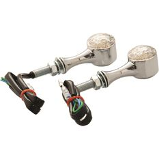Motorcycle Indicators - LED, Metal Chrome, 2 Pack, , scanz_hi-res