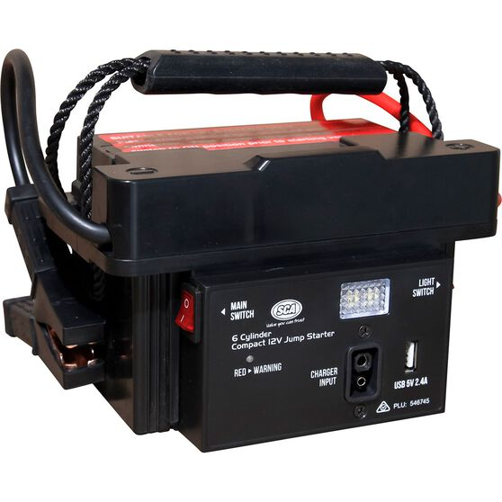 SCA 12V 1200 Amp 6 Cylinder Compact Jump Starter, , scanz_hi-res