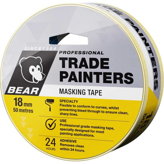 Norton Trade Painters Masking Tape - 18mm x 50m, , scanz_hi-res