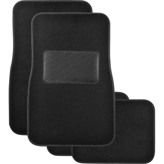 SCA Premier Plus Floor Mats - Carpet, Black, Set of 4, , scanz_hi-res