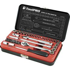 "ToolPRO Socket Set 1/4"" Drive Metric/SAE 48 Piece, , scanz_hi-res"
