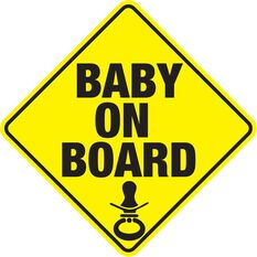 Sticker - Baby on Board, Vinyl, , scanz_hi-res