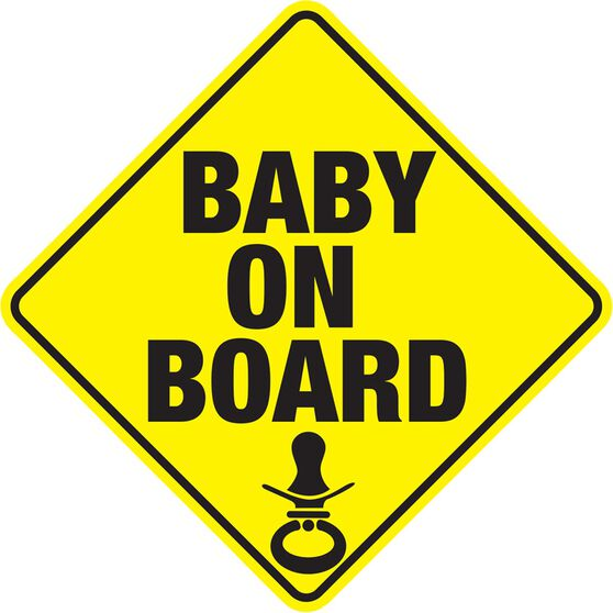 Hot Stuff Sticker - Baby on Board, Vinyl, , scanz_hi-res