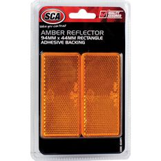 Reflector - Rectangle, 94 x 44mm, Amber, 2 Pack, , scanz_hi-res