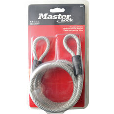 Master Lock Looped Cable - Woven Steel, 6mm x 1.8m, , scanz_hi-res