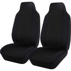 SCA Jacquard Seat Covers - Black, Built-in Headrests, Airbag Compatible, , scanz_hi-res