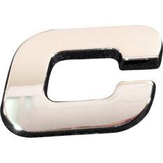 3D Chrome Badge - Letter C, , scanz_hi-res