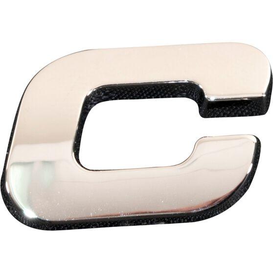 SCA 3D Chrome Badge Letter C, , scanz_hi-res