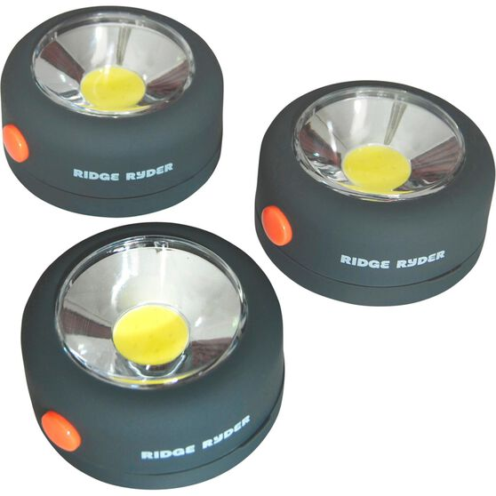 Ridge Ryder Round COB LED Light - 2W, 3 Pack, , scanz_hi-res