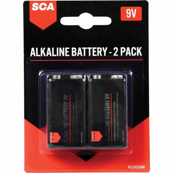 SCA Alkaline 9V Batteries 2 Pack, , scanz_hi-res